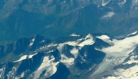 Fly over the Alp Mountains