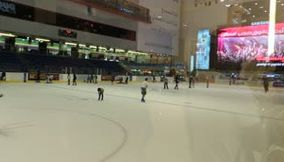 Ice Skating Video of Dubai Mall Entertainment