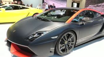 title: Lamborghini at Paris Car show 2012 France