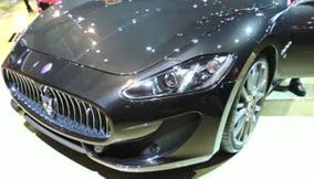 Maserati and Ferrari Sports car at French Car Exhibition Paris Porte de Versailles