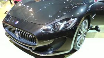 title: Maserati and Ferrari Sports car at French Car Exhibition Paris Porte de Versailles