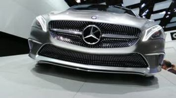 title: Mercedes Benz at Paris Car Show 2012 in France