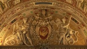 title: Vatican City arts arched ceiling