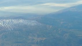 Video of Air Traveling over the Lebanese Mountains