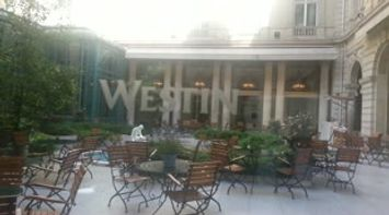 title: Video of the Welcoming Comfortable Outdoor Seating Area of the Restaurant of the Westin Hotel in Paris