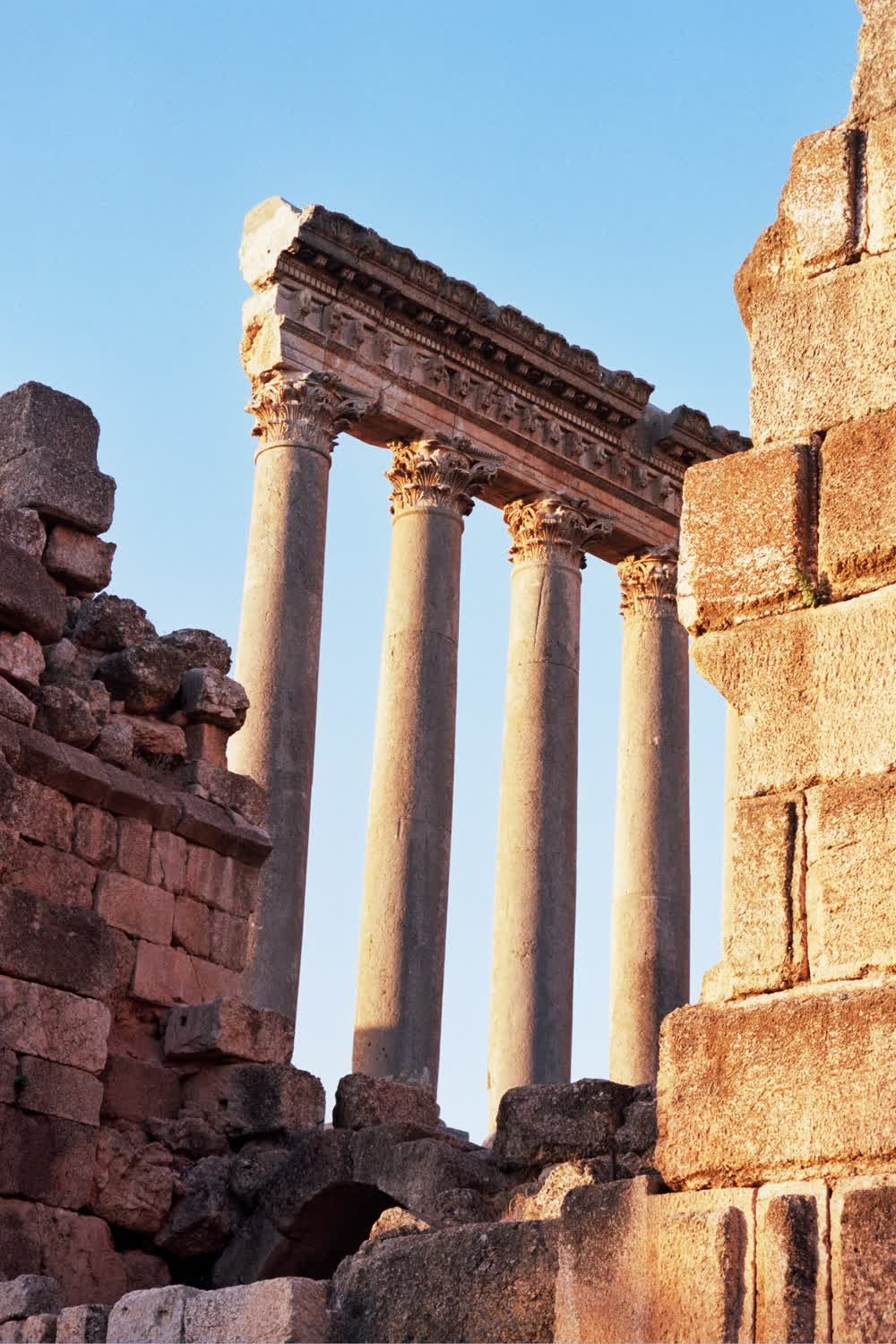 title: Stone Pillars of an Old Roman Temple