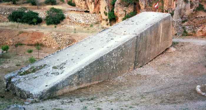 title: Stone of Pregnant Woman in Ruins of Baalbeck Lebanon