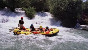 The thrill of rafting in Al Assi River Lebanon