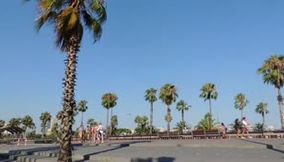 title: Spain Barcelona Corniche car Point of view
