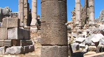 Kfardebian Roman temple ruins built over Phoenician temple
