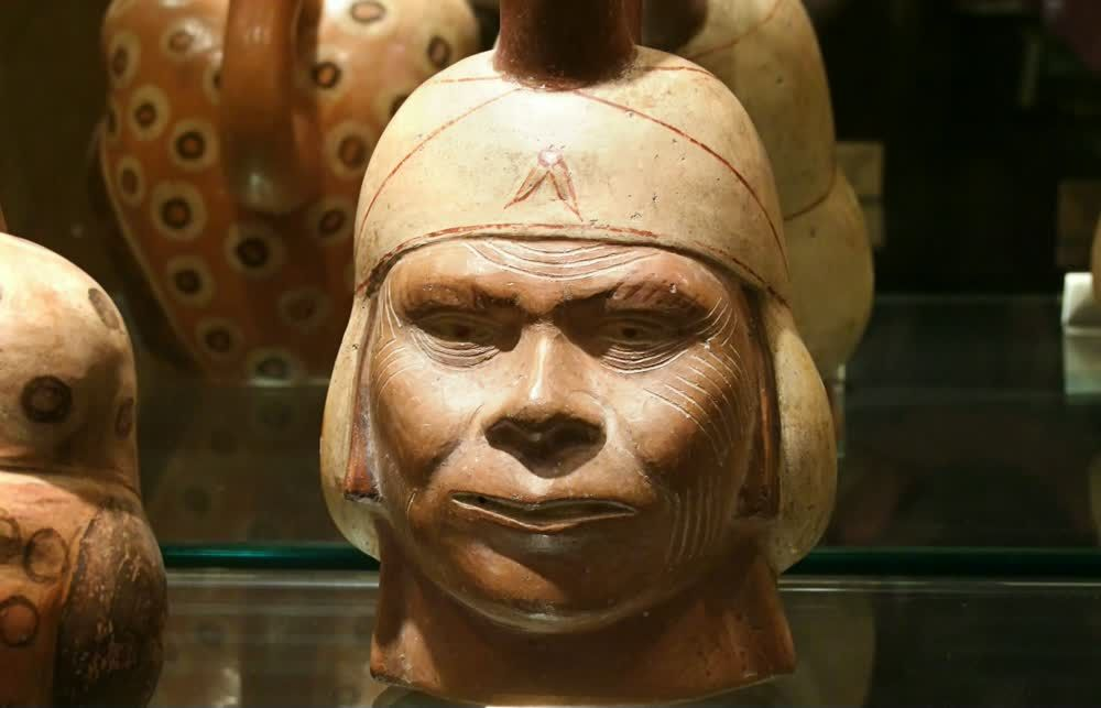 title: Ancient Warrior Bust from another Culture in Abu Dhabi