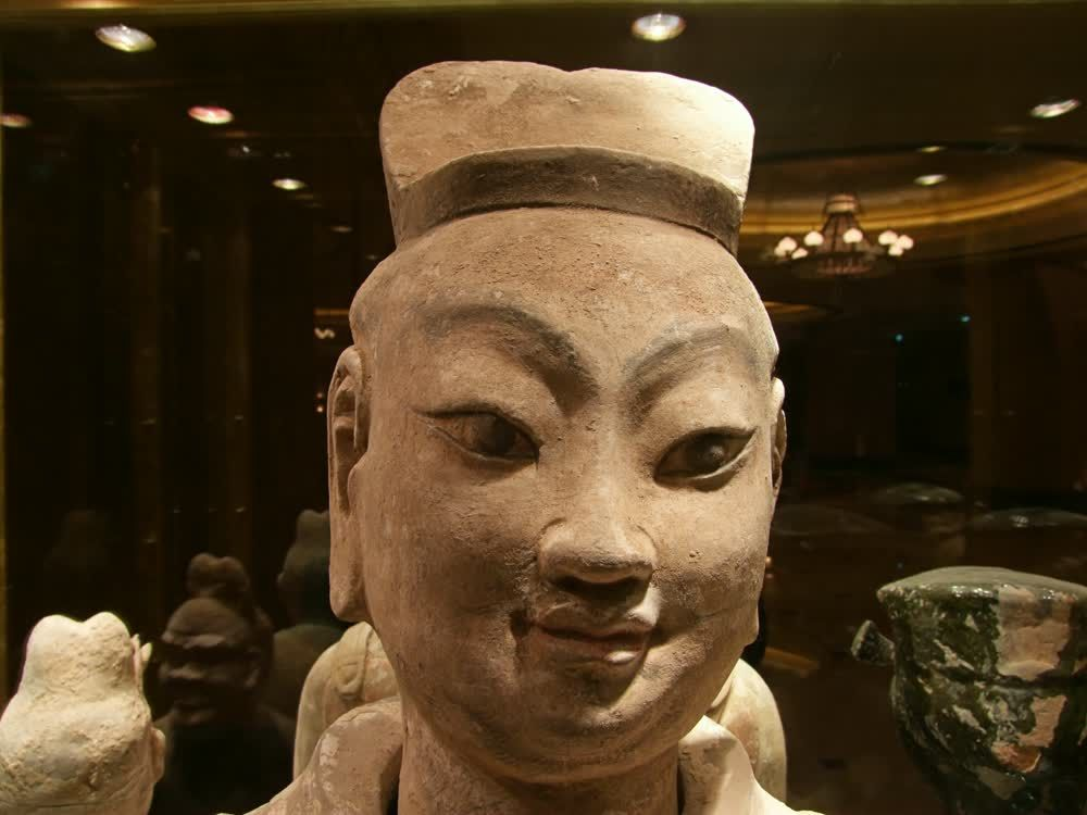 title: Asian Culure Civilization Terracotta Face Statue