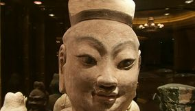 Asian Culure Civilization Terracotta Face Statue