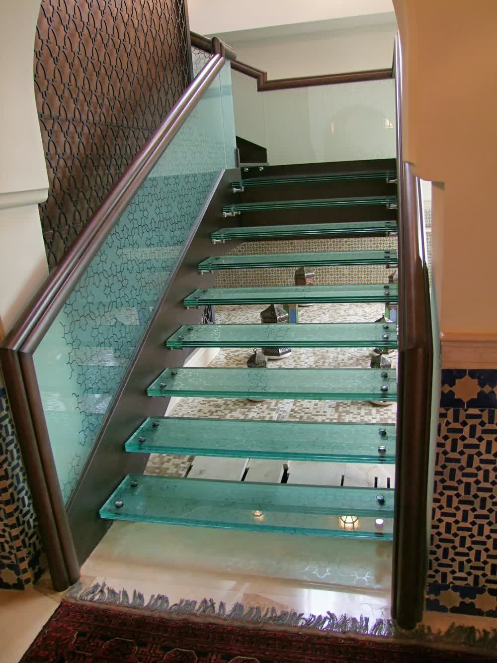 title: Glass Floating Stairs in a Hotel in Abu Dhabi