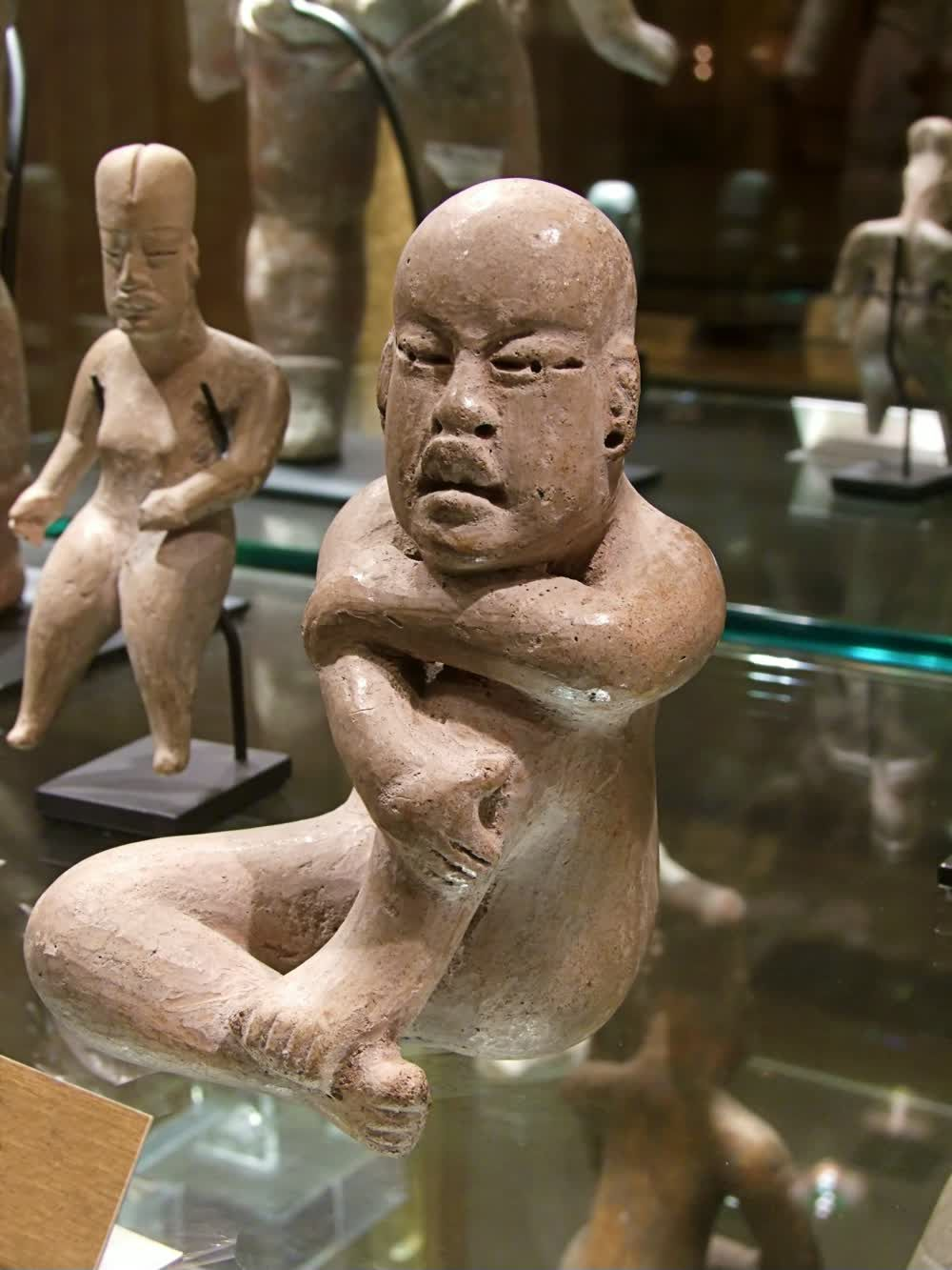 title: Naked Stone Sculptures of Old Cultures