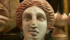 Roman or Greek Head Sculpture from Ancient Civilization