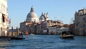 Great overall view of Venice by boat