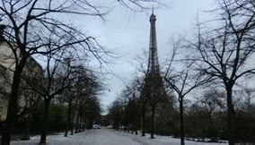title: Tour Eiffel Snow all around and Cedars from Lebanon