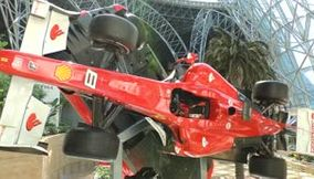 Ferrari formula one car rotating on a Fixed Stable Axis as Display