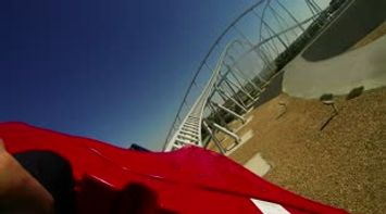 Ferrari world Roller Coaster Ride filmed with Gopro camera