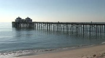 title: Sport fishing pier Malibu LA California USA