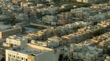 title: A Typical Aerial View of Residential Areas of Riyadh
