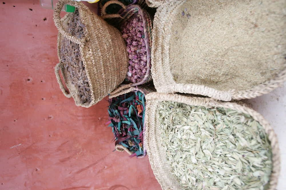 title: Potpourri Scented Dried Petals and Leaves for Sale in the Marrakesh Souks