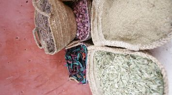 Potpourri Scented Dried Petals and Leaves for Sale in the Marrakesh Souks