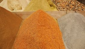 Varieties of Spices at the Marketplace Souks of Marrakesh