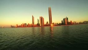 title: Sea trip at sunset in Abu Dhabi UAE