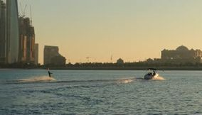 Ski Nautique Speed Boat Video in Abu Dhabi