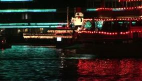 USA California Orange County Newport beach Christmas boat parade