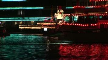 title: USA California Orange County Newport beach Christmas boat parade