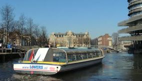 Cruise on the canals in Amsterdam Holland