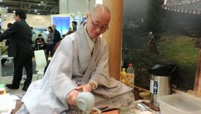 title: Korean Monk at South Korea Stand at ITB Berlin 2013 Germany