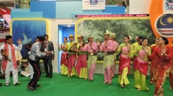 title: Malaysia Traditional Dance at ITB Show Berlin Germany 2013 Stand Malaysia