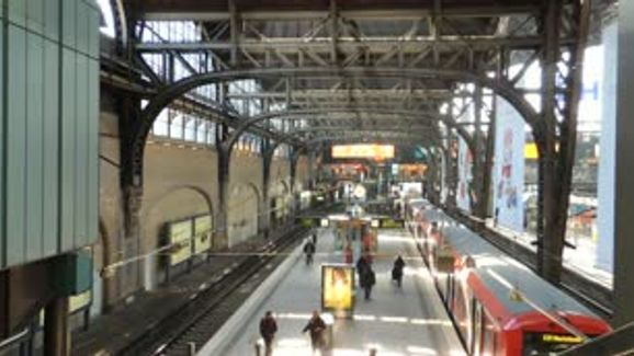 Discover Hamburg The Busy Train Station of Hamburg during Working Hours