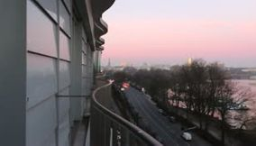 Video of Sunrise Panoramic View from Le Royal Meridien Hotel in Hamburg