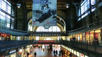 Video of the Busy Train Station Interior of Hamburg