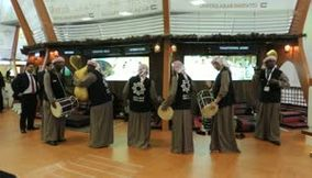 title: Sharjah Traditional Band Music and Dancer at UAE Stand ITB Berlin Germany