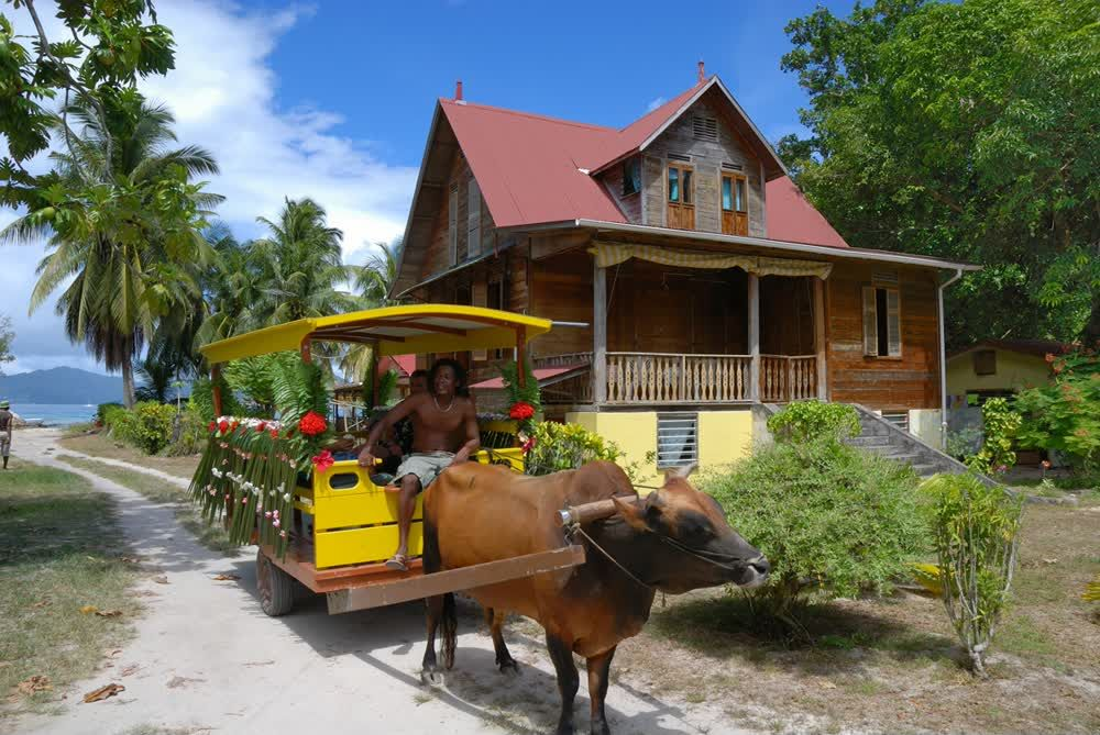 title: Ox Cart Old House Seychelles Culture