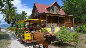 Ox Cart Old House Seychelles Culture