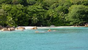 Anse Lazio secondary Beach crystal clear turquoise waters Seychelles