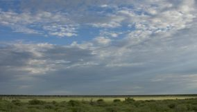 Clouds covering the sky Kgalagadi Transfrontier Park Botswana