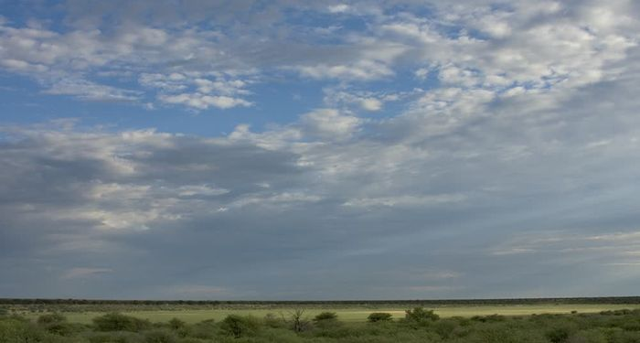 title: Clouds covering the sky Kgalagadi Transfrontier Park Botswana