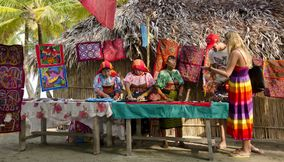 Colorful handmade items Culture Panama