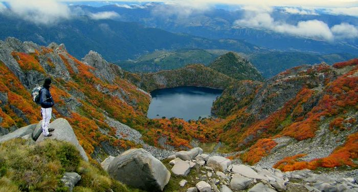 title: Lakes Volcanoes Huerquehue CHILE