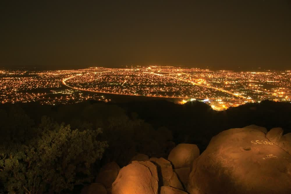 Magnificent lights by night Gaborone & Southern Botswana