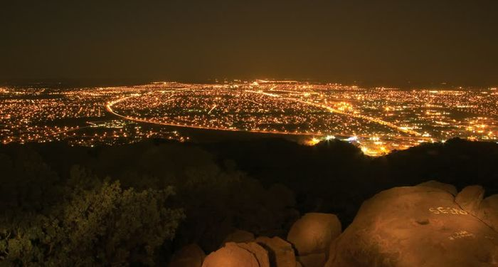 title: Magnificent lights by night Gaborone Southern Botswana