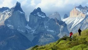 title: Taking pictures Torres del Paine Cuernos CHILE Patagonia
